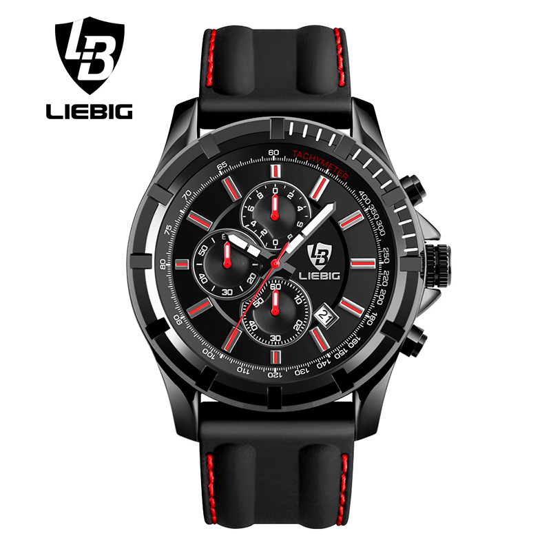 LIEBIG SX161015 Men Quartz Wristwatches Military Sports Leather Watches Calendar Stopwatch Waterproof Relogio Masculino<br><br>Aliexpress
