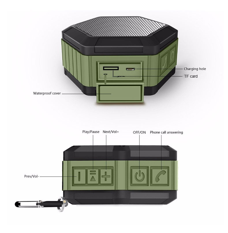 Thaiba waterproof bluetooth speaker bluetooth portable speaker for phone wireless sound bar music MP3 player USB speakers