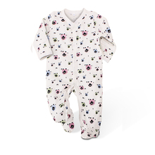 Baby Clothing New Autumn Baby Boys Girls Rompers Newborn V-Neck 100% Cotton Clothes Full Sleeve Infant Print Baby Boys Clothes
