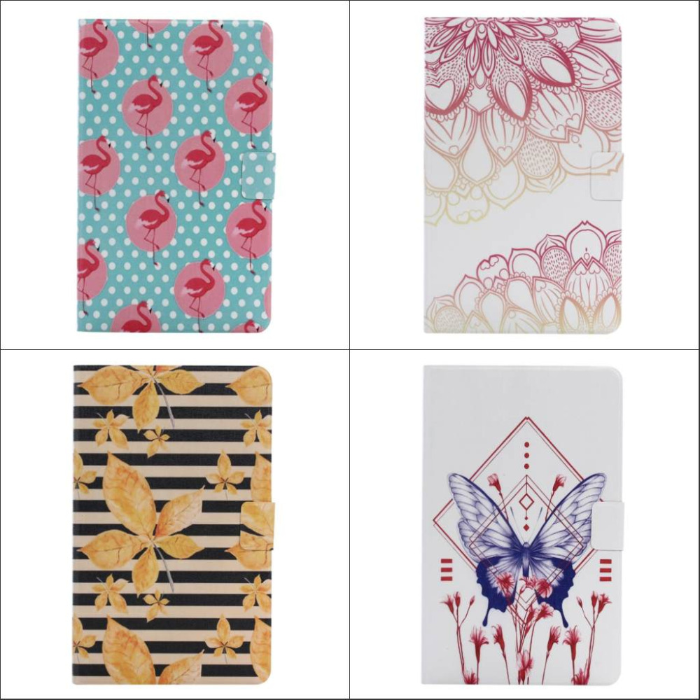 Butterfly flower guitar Card Slot Leather stand Case cover For Samsung Galaxy Tab A 10.1 T585 T580 SM-T580 T580N + Screen film<br><br>Aliexpress