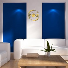 Fashion Removable DIY Wall Clock Art Decals Mirror Sticker Wall Clock Home Decoration Clock  E#CH