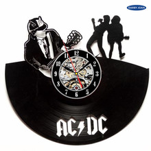 AC/DC Brand New Classic Rock Vintage Room Vinyl Wall Clock Art Gift ,wall clock  saat alarm clock reloj large wall clock duvar