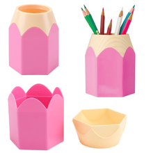 Creative Pencil Shape Makeup Brush Pen Holder Box Storage Container Desk Tidy Organizer Stationery Office Desktop Accessories