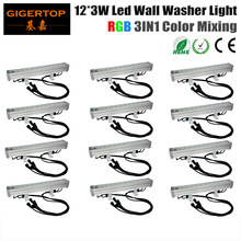 12XLot 50cm Long DMX RGB Led Flood Light 12x3W Wall Washer Indoor/Outdoor Led Bar Light Epistar Chip,CRI 80,30/45/60 Beam angle