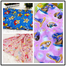 16 style sale Cartoon princess Mickey Mouse Winnie Polyester Cotton Fabric For Sewing Fat Quarter Quilting Patchwork Doll Kids