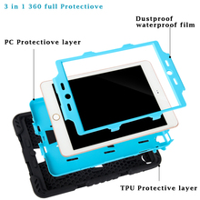 For iPad 4 Case 3 in 1 Protection Stand Cover  For apple ipad 2 3 4 Case 360 Full Shockproof Heavy Duty Silicone Hard Cover bag
