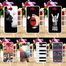 Anti-scratch Plastic Phone Cases For Huawei Y6 Pro Enjoy 5 Honor Play 5X Back Cases Paint Sexy Lips Telephone Accessories