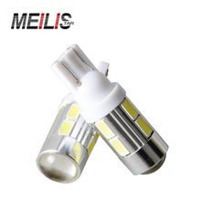 2pcs Super Quality 10 LED SMD 5730 Error Free 194 168 W5W Universal parking Car LED T10 LED CANBUS T10 LED CANBUS Car Side Light(China)