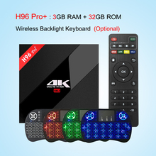 H96 Pro Plus + Smart TV Box Amlogic S912 Octa Core CPU Android 7.1 OS BT 4.1 2.4GHz+5.0GHz WiFi Mini PC 3GB 32GB Media Player
