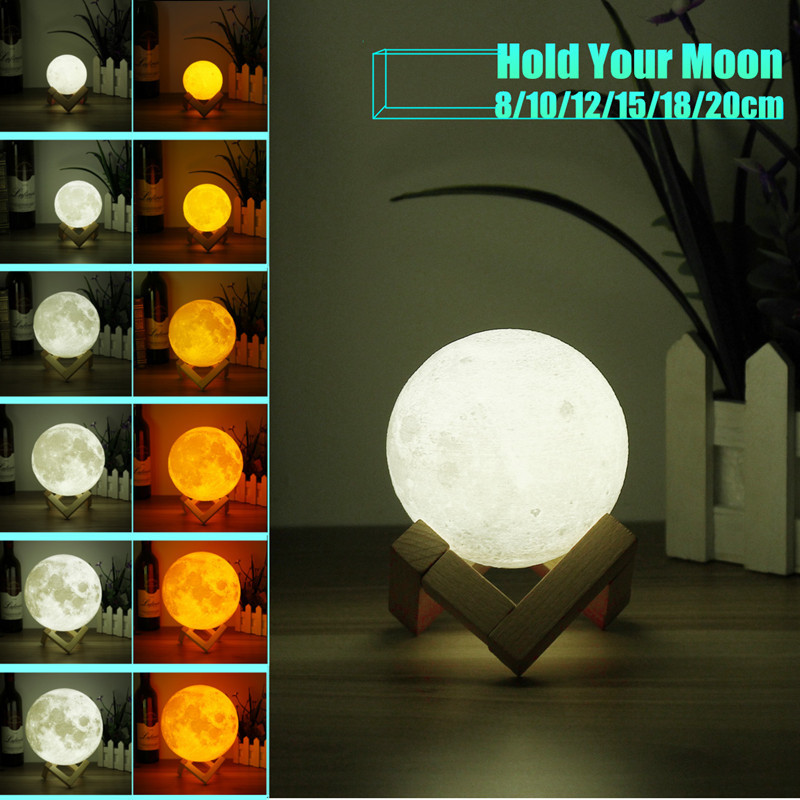 Chiclits LED Moon Lamp 3D USB Magical Moon Night Light 10CM Table Touch Sensor Color Changing Home Bedroom Decoraction Child Kid Girl Gift (24)
