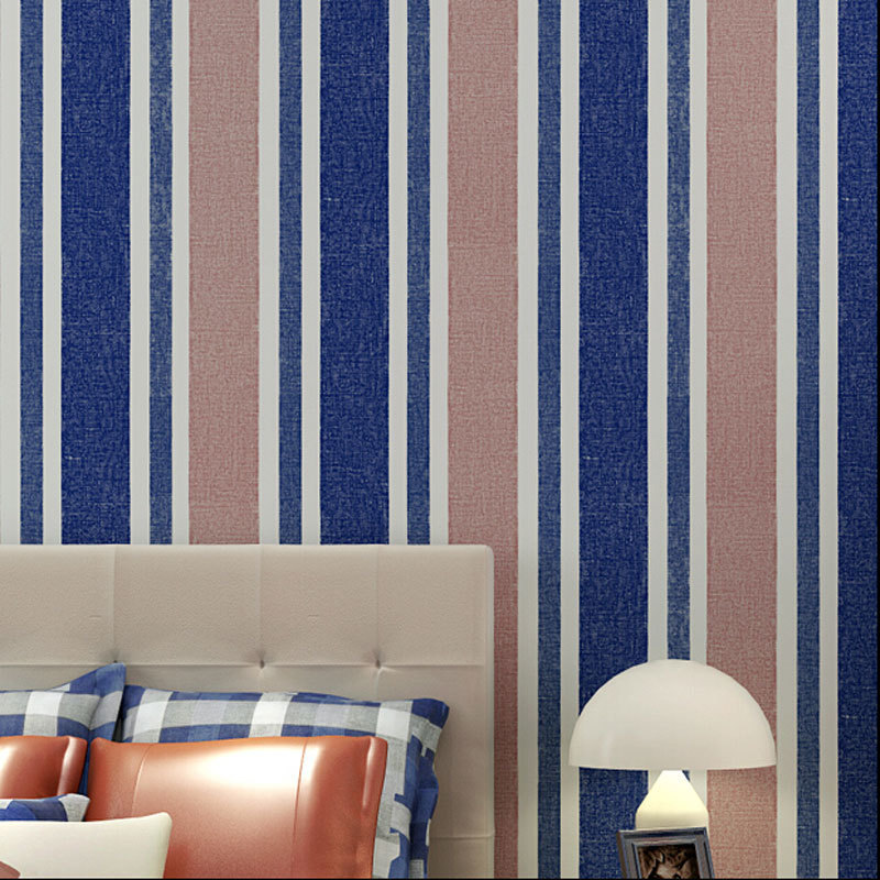 beibehang Quality Stripes Design Home Decor Wallpaper Modern Blue Wallpapers Mural Wall Paper Non-woven papel de parede<br>