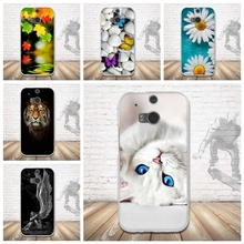 Luxury Printing Back Case for HTC One 2 Soft Silicone Cover For HTC One M8S Case Mobile Phone Shell TPU Skin For HTC M8 Case M8S(China)