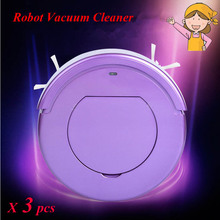 3pcs/lot KRV205 Intelligent sweeping robot Household Automatic Efficient Vacuum Cleaner ultrathin dust collector
