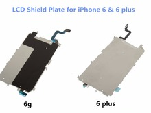 1PCS High Quality LCD Metal Back Plate Shield + Home Button Extend Flex Cable Ribbon For iPhone 6 4.7'' & 6 Plus 5.5 inch Part