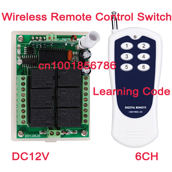 12V 6 CH Channel RF Wireless Remote Control Switch System Transmitter &amp; Receiver for home Applicance or electrical machine<br><br>Aliexpress