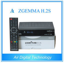 20pcs/lot Genuine Zgemma H.2S Dual Core Twin Tuner DVB-S2 Satellite Receiver support SD/TF card PVR record
