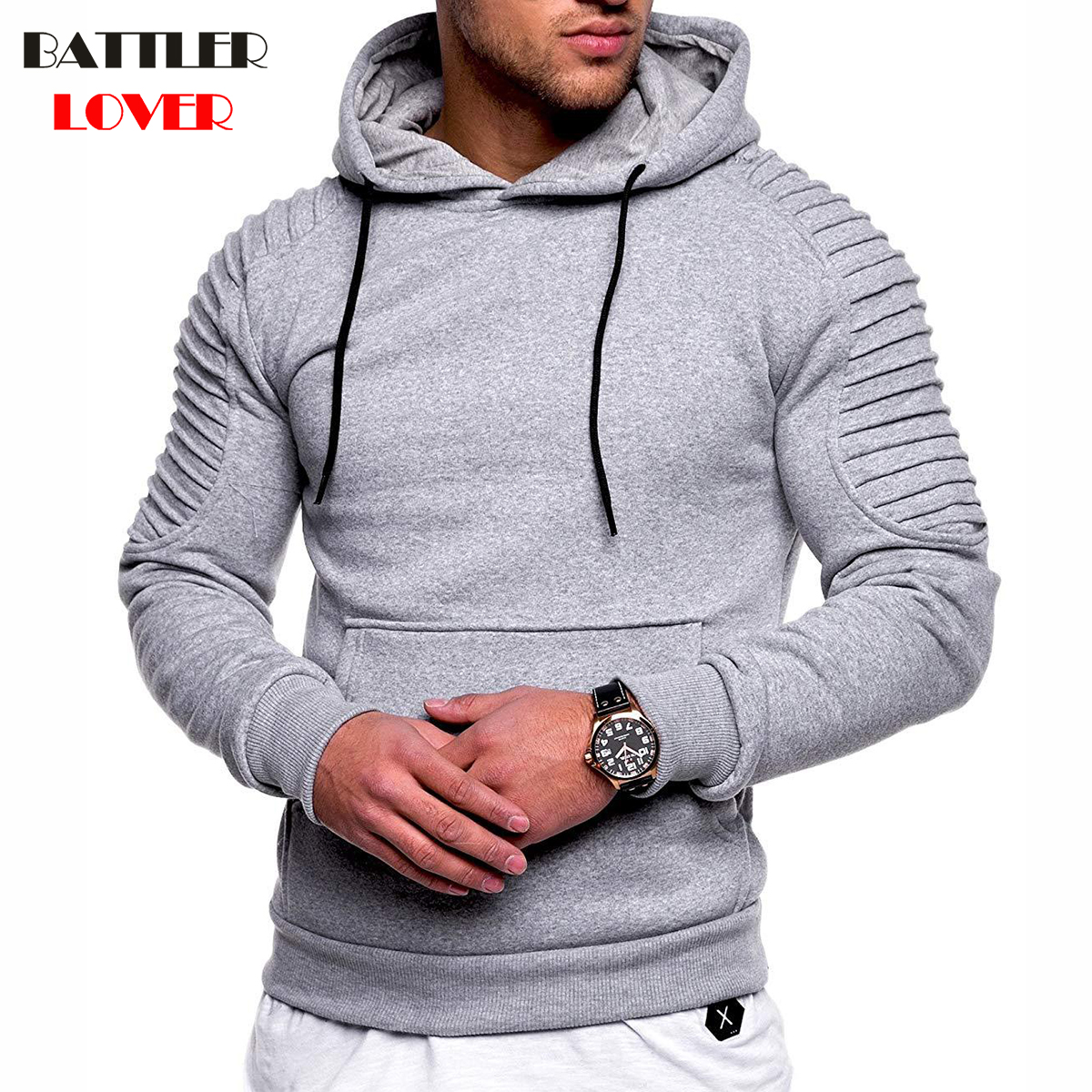 Hoodies Men 2018 Brand Sweatshirt Mens Hoodies Fashion Hip Hops Biker Pullover Hoody Jacket Mans Hombre Autumn Hooded Tracksuits