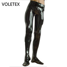 VOLETEX Latex Rubber Men Pants With Socks Gummi 0.4mm Leggings Customize Plus Size(China)