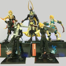 5pcs/set Final Fantasy trading arts Tidus Warrior of Light Cloud Strife Squall Leonhart Tidus pvc action figure doll model toy