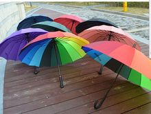 Long-handle/straight umbrella, rainbow/plain umbrella, 16K, logo printing is available as business gifts for promotion/advertize