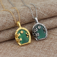 Fashion Green Lord Of Door Locket Necklace Pendant Chain Movie Jewelry Wholesale And Retail(China)