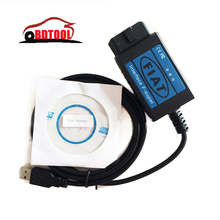Free Shipping OBD2 EOBD USB Diagnostic Cable fi-at Scanner easy to use(China)