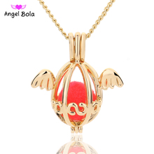 Angel Bola Jewelry Yoga Aromatherapy Essential Oils Surgical Perfume Diffuser Locket Necklace Drop Shipping L178