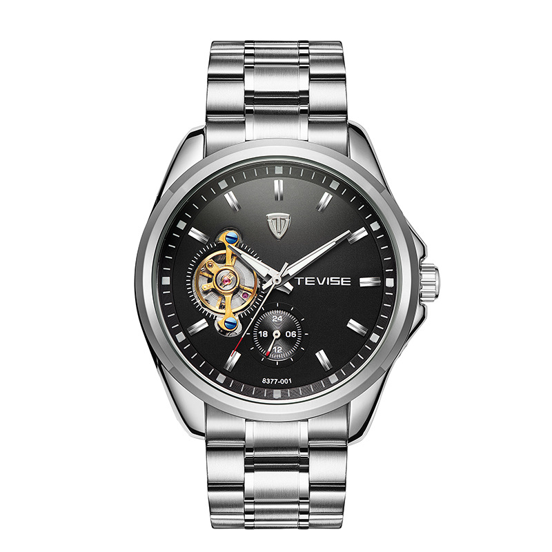 TEVISE brand luxury Mens watches Automatic mechanical watch tourbillon clock Full Steel Casual wristwatch Relogio Masculino<br>