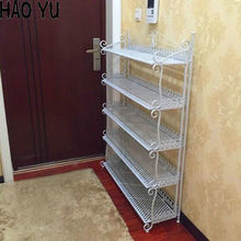 The new multi-folding Specials Continental Iron Shoe Shoe Shelves floor-hall shoe rack simple slippers three color free shipping