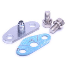 Kinugawa Turbo Oil Feed Flange Kit w/ Restrictor 1.0mm for Garrett GT42R GT4202R GT45R Ball Bearing Turbocharger