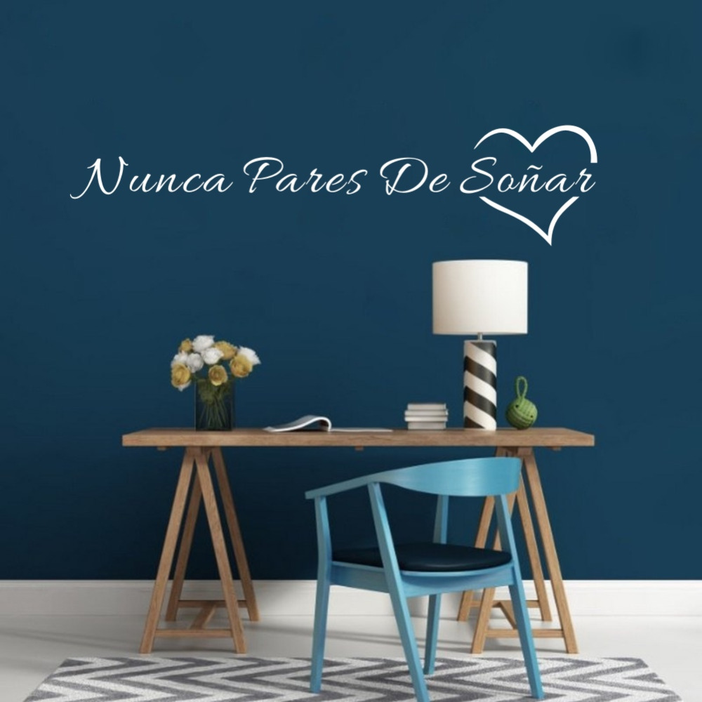 HTB1wjFkbcnI8KJjSsziq6z8QpXa9 Spanish Quotes Never Stop Dreaming Wall Sticker
