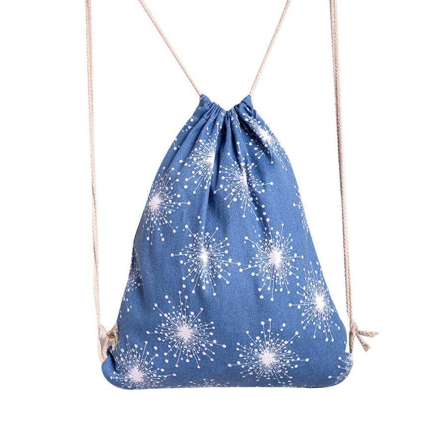 Best Gift Unisex Christmas Snowflakes Backpacks Printing Bags Drawstring Backpack a21  Drop Shipping Wholesale<br><br>Aliexpress