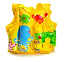 Baby Safety Swimming Aid Inflatable Swim Vest Fish Water Fun Toy(China)