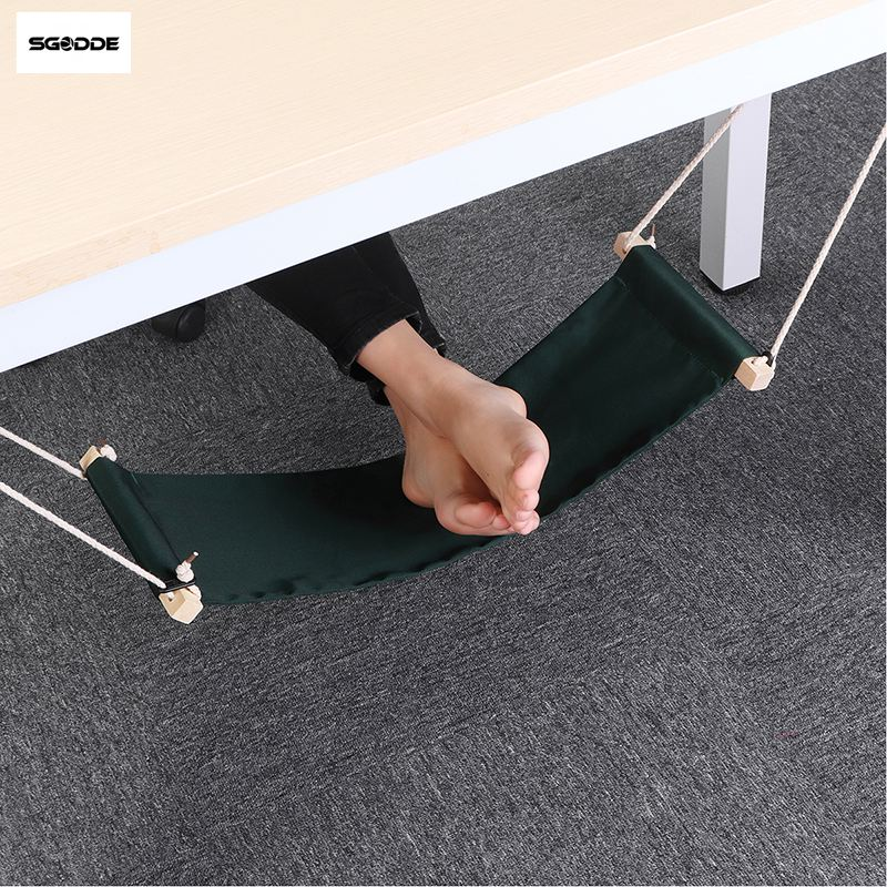 SGODDE Feet Hammock Desk Foot-Rest Office Home The Internet Surfing Welfare Hobbies Leisure title=
