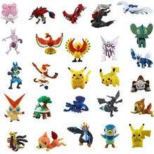 48pcs/lot Pikachu Pokeballl Figure 2-4cm Pocket Monster Anime Toys Eevee Espeon Umbreon Glaceon Vaporeon Figurines