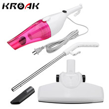KROAK 2 in 1 500W Car Home Vacuum Cleaner Dry / Wet Quiet Push-Rod Dust Collector Handheld(China)