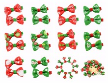 20pcs/lot Cute Pet Dog Ribbon Bow Hair Clip Dog Bowknot Hairpin Pet Hair Accessories Boutique Christmas Ornaments(China)