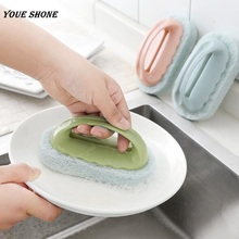 Youe shone Cleaning Tool Handle Cleaning Brush Magic Sponge Brush Kitchen Bathroom Window Wall Pot Machine Cleaner