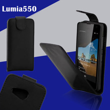 Besegad Protective Front and Back Flip PU Leather Case Cover Skin Shell for Microsoft Lumia 550 Accessory Gadgets