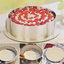 Retractable Stainless Steel Circle Mousse Ring Baking Tool Set Cake Mould Mold Size Adjustable Bakeware