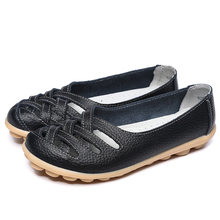 Women's shoes Pig Leather Flat Shoes Superstar Big size 34-42 Oxford shoes women loafers 2017 Casual shoe cheap