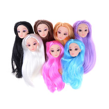 1pcs 3D Eyes Head Nake Joints Body Doll Head Toys For Barbie Dolls Girls Gift Doll Accessories Hot Sale(China)