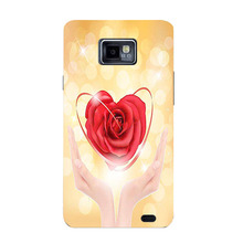 Luxury Painting Coque Cover For Samsung Galaxy S2 i9100 Colorful Cute Drawing Phone Shell Back cover Ultra Thin Protector Case(China)