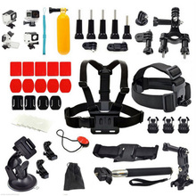 SHOOT Accessories Set For GoPro Hero 4 3+ Camera Chest Head Strap Monopod Suction Cup Mount Float Grip Waterproof Case(China)