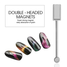 Saviland 1pcs Special Magnet Double-headed 3D Magnetic Pen Strong Magnetic Manicure Tool for Cat Eye Gel Nail Polish(China)