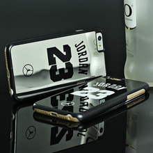 Luxury NBA Brand Michael Jordan 23 Cases For iPhone 7 7 Plus 6 6 Puls 5 5s SE PC Hard Mirror Phone Cases For iPhone Fundas