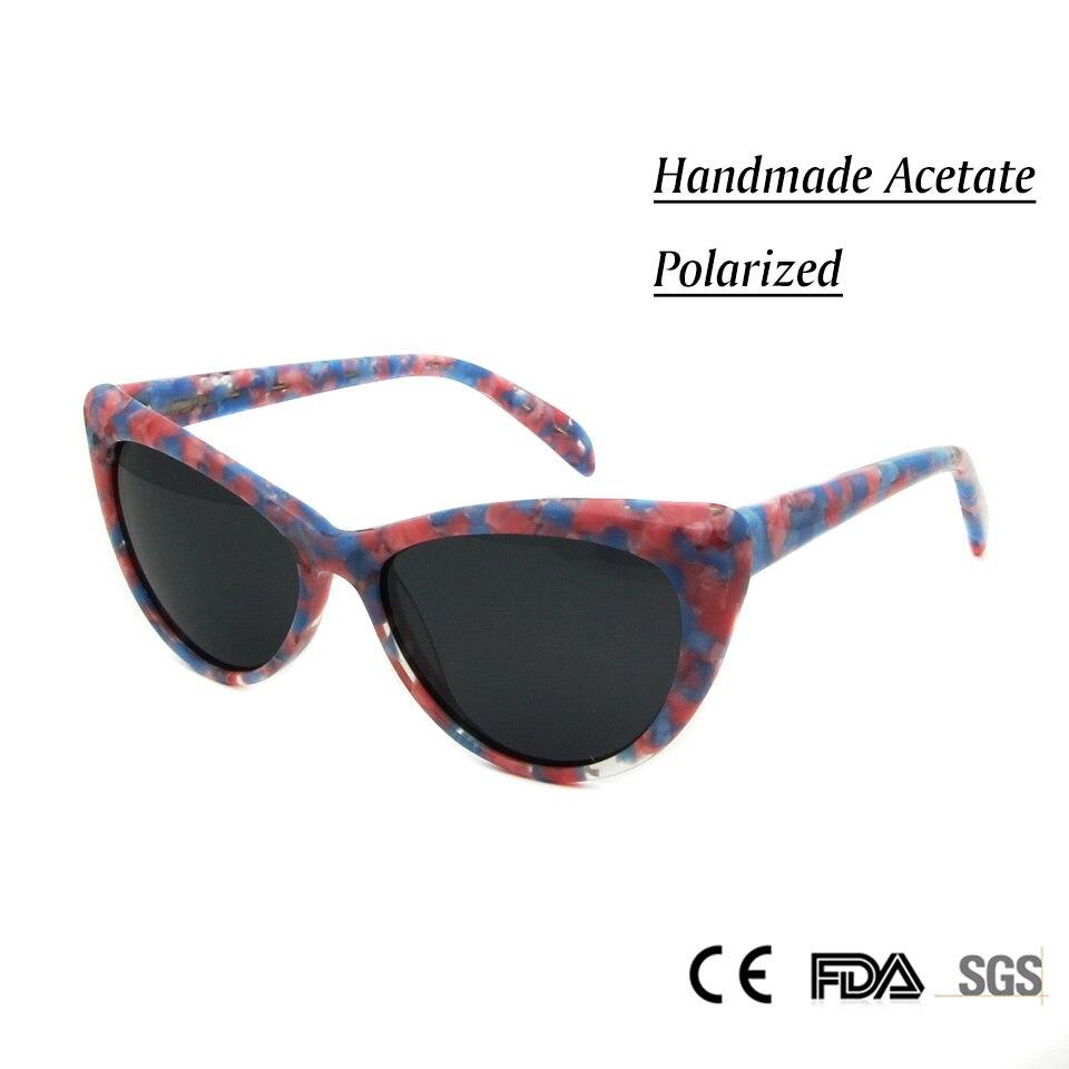 2017 New Arrival Stylish Cat Eye Frame Women Sunglasses Brand Deisgner Handmade Acetate Polarized Glasses For Ladies Oculos<br><br>Aliexpress
