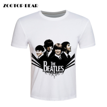 Beatles T shirt Men Hip Hop T-shirts Fashion Rock Tees Plus Size Loose Tops Summer Cool Camisetas 2016 Male Tshirt ZOOTOP BEAR