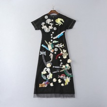 Best Buy New Fashion Women Apr13 Summer Dress Europe Style Design Vintage Embroidery Short party style dress M1006