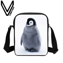VEEVANV Brand 2017 Penguin Image New Fashion 3D Printing Shoulder Bag School Student Messenger Bags Handbags Women Messenger Bag